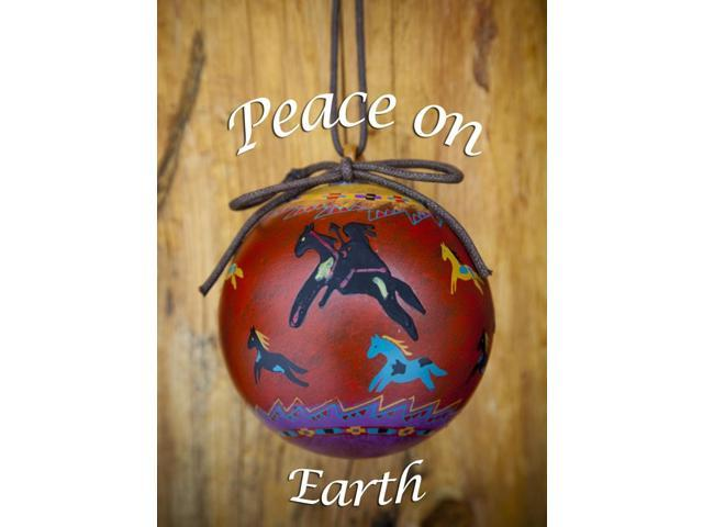 Native American Christmas Ornaments.Christmas Ornament Of A Painted Ball With Colorful Native American Horses Pr Poster Print 11 X 15 Newegg Com