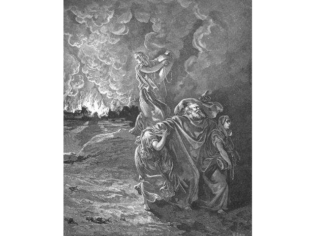 Sodom & Gomorrah Nthe Lord Rained Upon Sodom And Upon Gomorrah Brimstone  And Fire From The Lord Out Of HeavenHis (LotS) Wife Looked Back From Behind