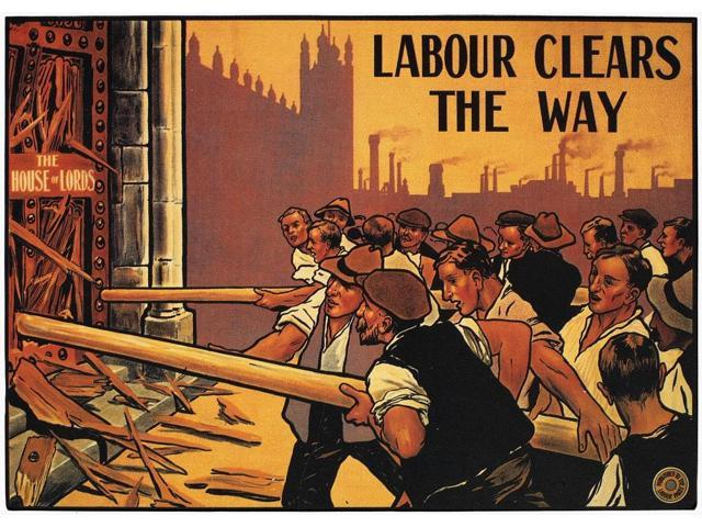 England Labour Poster NLabour Clears The Way Labour Party