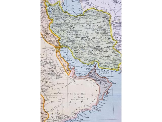 Posterazzi DPI1862658 Partial Map of Middle East Showing Red Sea Persian  Gulf Horn of Africa Gulf of Aden In 1890S From the Citizens Atlas of Poster  ...