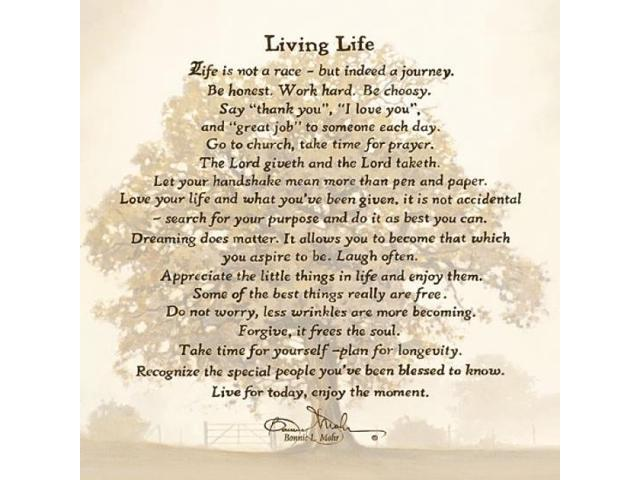 Living Life Poster Print By Bonnie Mohr (18 X 18)
