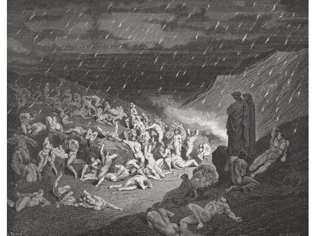 Engraving By Gustave Dore 1832 1883 French Artist And Illustrator For Inferno By Dante Alighieri Canto Xiv Lines 37 To 39 Poster Print 16 X 12