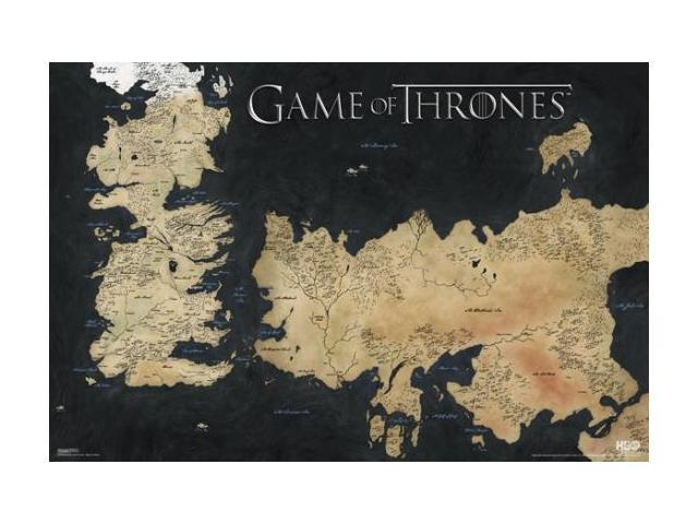 Game Of Thronrs Map on