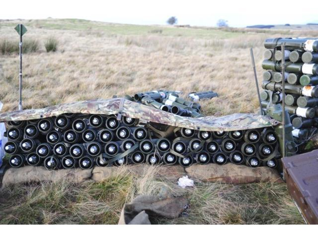 81mm mortar rounds ready stacked ready for use Poster Print (34 x 22) -  Newegg com