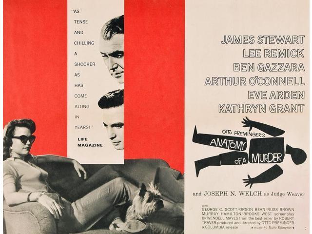 Anatomy Of A Murder From Left Lee Remick James Stewart Ben Gazzara ...