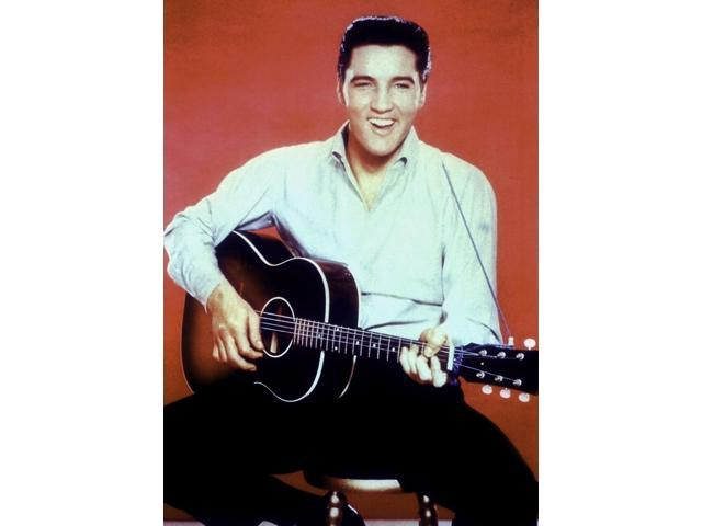 Publicity still of Elvis Presley with a guitar Photo Print (8 x 10) -  Newegg com