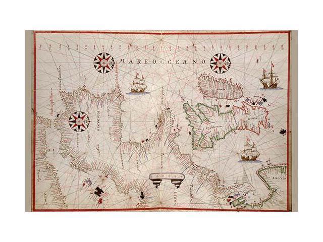 Map Of Spain Oliva.Portolan Map Of Spain England Ireland France Poster Print By Joan Oliva 18 X 24 Newegg Com