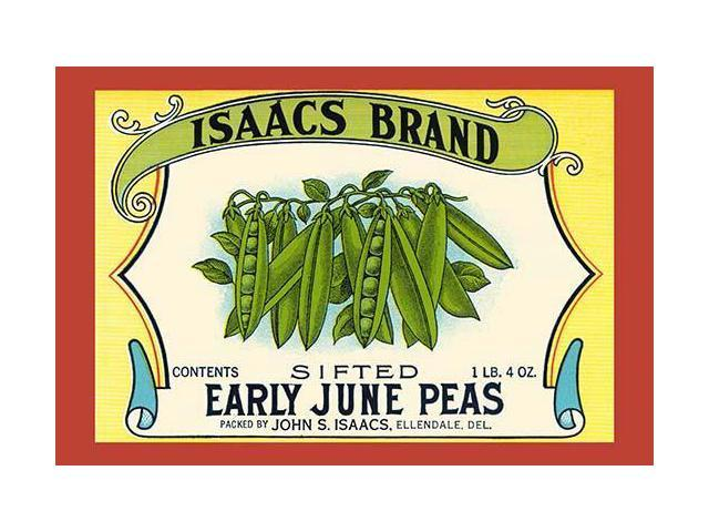 Original can label for sifted June peas Poster Print by unknown (18 x 24) -  Newegg com
