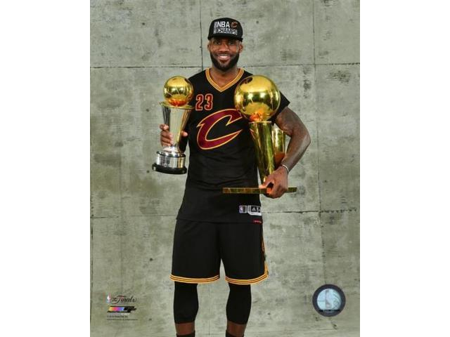 best service d2249 a6b8b Lebron James with the NBA Championship & MVP Trophies Game 7 of the 2016  NBA Finals Photo Print (8 x 10) - Newegg.com