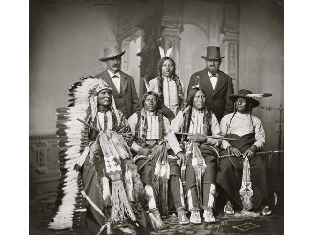 Group of Sioux Indians Spotted Tail Standing Joe Merrivale Young Spotted  Tail Antoine Janis Seated Touch-the-Clouds Little Big Man Black Cool last  two