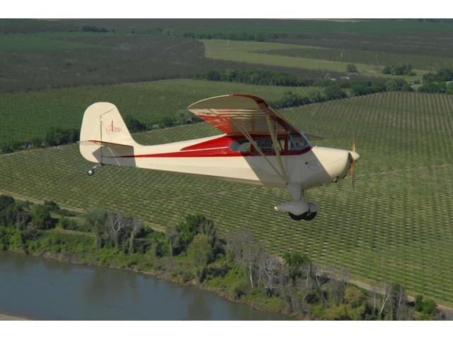 Aeronca Chief flying over Sacramento Valley, California Poster Print (34 x  22) - Newegg com