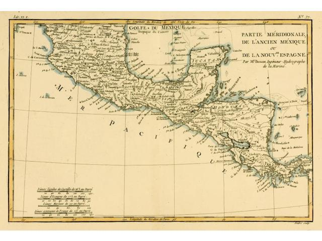 Posterazzi DPI1859951 Map of Southern Mexico Circa.1760 From Atlas De  Toutes Les Parties Connues Du Globe Terrestre by Cartographer Poster Print,  17 x ...