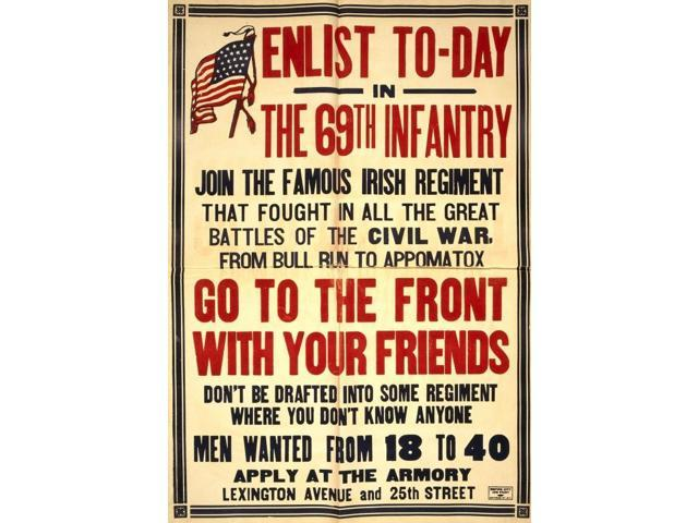 HistoricalFindings Photo Enlist Today,69th Infantry,Famous Irish Regiment,World War,WWI,Military,1917