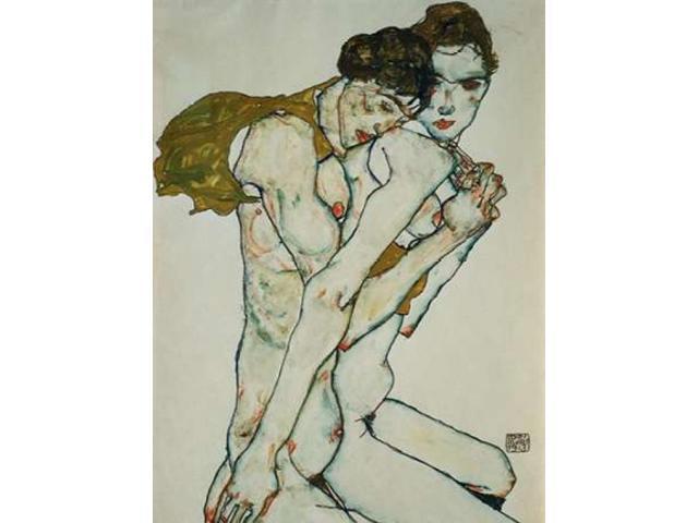 Nude in Green Slip Egon Schiele Reproductions Fine Art Print