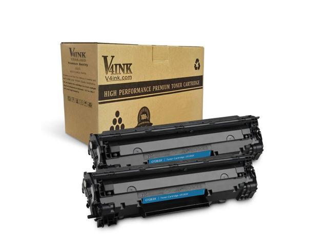 V4INK 2 Packs New Replacement for HP 83X CF283X Toner Cartridge High Yield  for use with HP Laserjet pro MFP M225dw M225dn M201dw M201n Printer Series