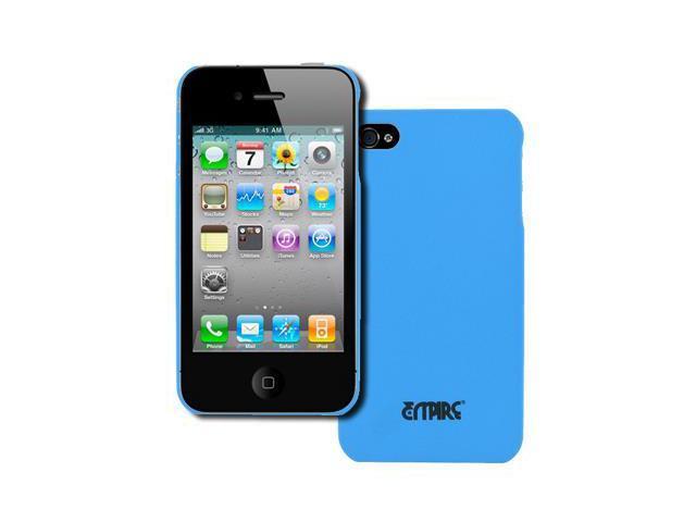new york 725d8 f9e52 EMPIRE Apple iPhone 4 / 4S Stealth Rubberized Hard Case Cover (Light Blue)  [EMPIRE Packaging] - Newegg.com