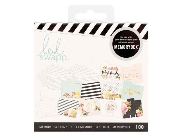 American Crafts Heidi Swapp MemoryDex Tabs Kraft 100 Piece