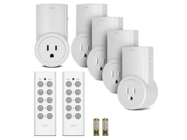 Etekcity BH9938U-5-2 5 Pack Self Learning Wireless Remote Control AC ...