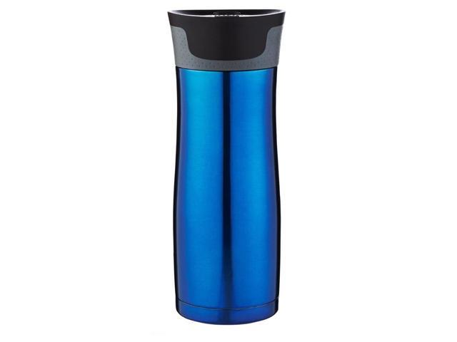 Contigo Autoseal West Loop 2.0 Travel Mug with Easy Clean Lid-2 Pack-Blue//Silver