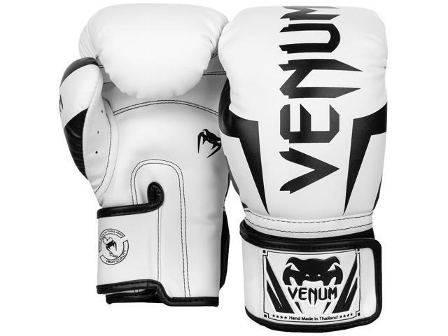 Black//White Venum Elite Boxing Gloves