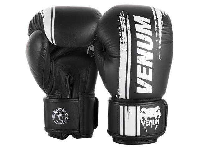 Venum Boxing Gloves Giant 3.0 Nappa Leather Black Silver Training Sparring
