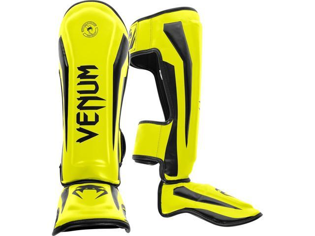 Venum Elite Standup Shin Guards Black//Red//Gray
