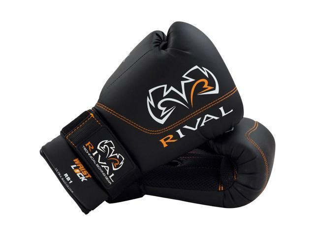Rival Boxing RB1 Hook and Loop Ultra Bag Gloves - 8 oz - Black - Newegg com