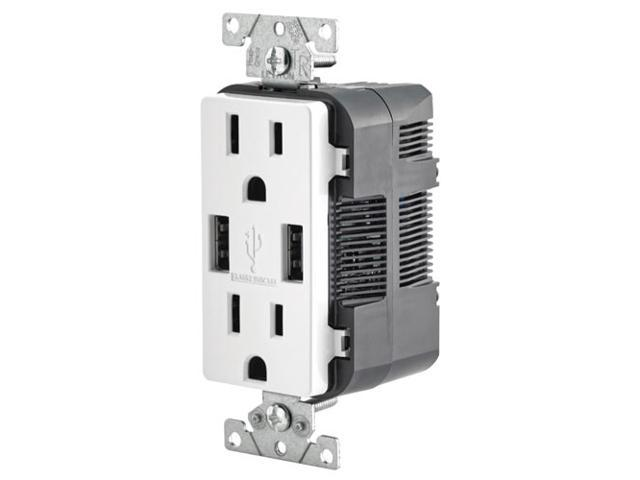 Leviton 2-Port USB Charger & Tamper-Resistant Duplex Receptacle, 15A, White  (T5632-W) - Newegg ca