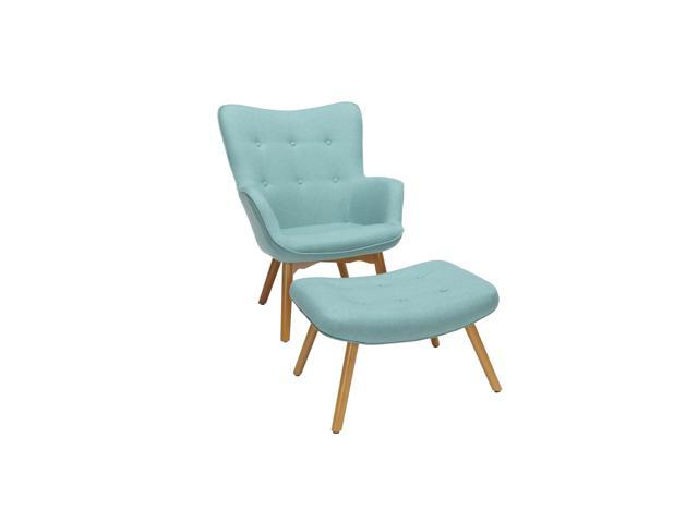 Phenomenal Ofm 161 Collection Mid Century Modern Tufted Fabric Lounge Chair With Ottoman Solid Honey Beechwood Legs In Teal 161 Flc1 Teal Newegg Com Alphanode Cool Chair Designs And Ideas Alphanodeonline