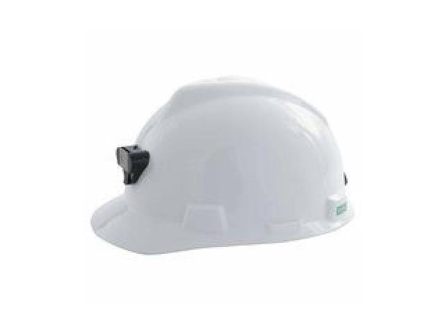 Msa 460018 Hard Hat W Lamp Bracket And Cord Holder