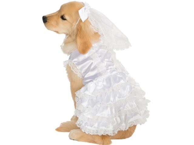 married marriage wedding bride girl dog pet costumes size large 22