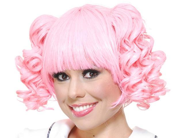 Sexy Adult Womens Long Curly Mahou Shoujo Madoka Pink Pigtail Costume Anime  Wig 377df1f57