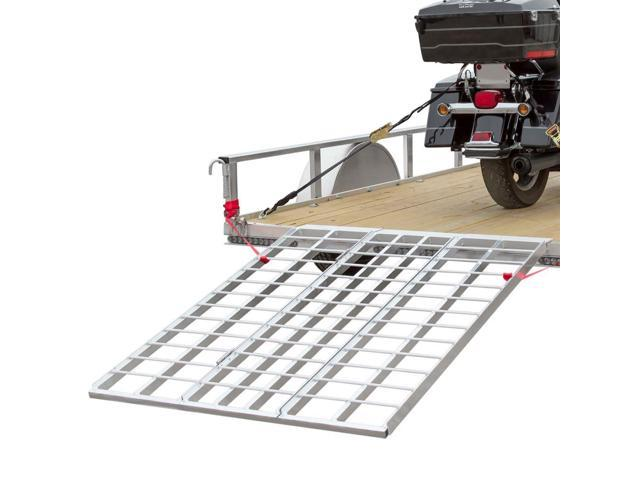 60 Triple Folding Atv Motorcycle Lawn Tractor Loading Ramps For
