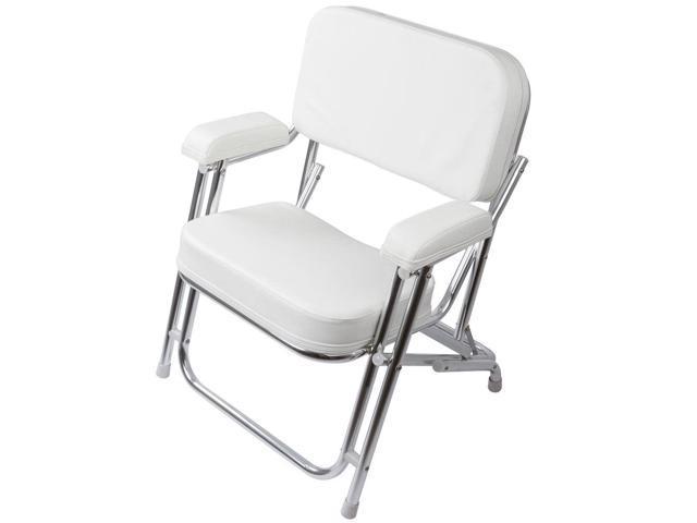 Portable Folding Cushioned Boat Deck Beach Chair