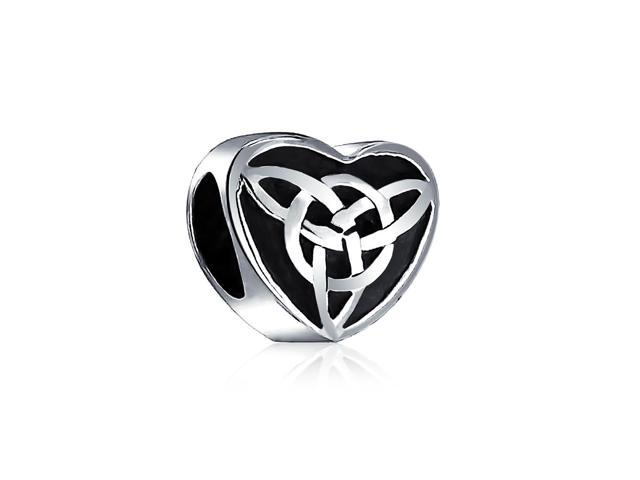 e7c63889b Bling Jewelry .925 Sterling Silver Celtic Knot Triquetra Heart Charm Pandora  Compatible