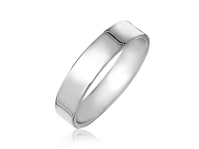 46cd007f62a45 Minimalist Plain Simple 925 Sterling Silver Flat Couples Wedding Band Ring  For Women For Men 4MM - Newegg.com