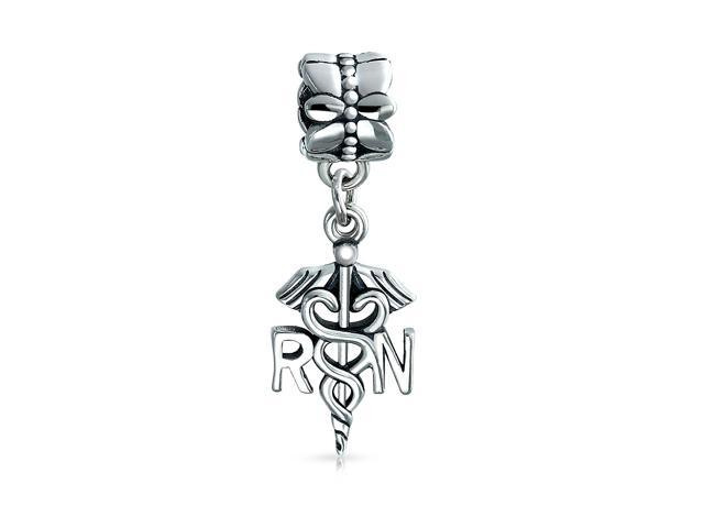 e1828e059be Rn Nurse Hat Nursing Caduceus Graduate Dangle Bead Charm For Women 925  Sterling Silver Fit European Bracelet - Newegg.com