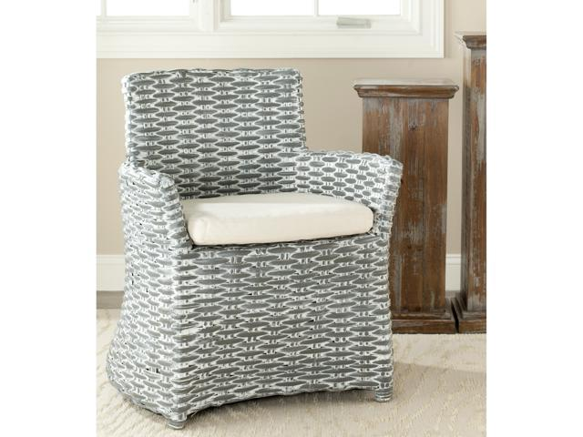 Safavieh St Thomas Indoor Wicker Washed-out Grey Arm Chair - Newegg.com