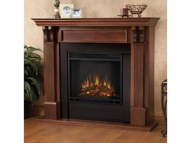 Real Flame Ashley Indoor Electric Fireplace In Mahogany 7100e M