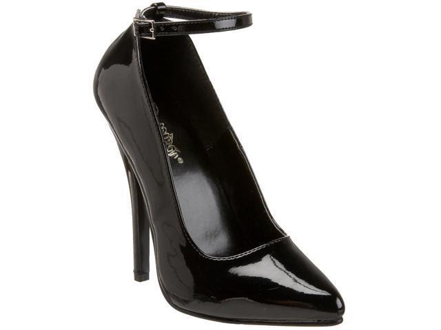 d9cf0c0ca8 Pleaser Women's 'Domina-431' Black Patent Faux Leather Ankle Strap Pumps