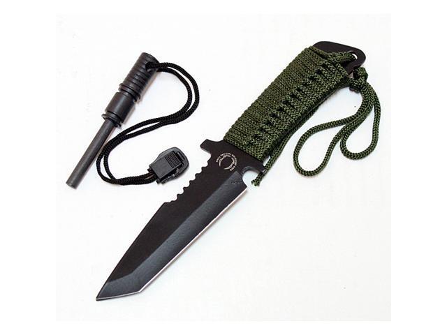 Defender 7-inch Fire Starter Carbon Steel Blade Hunting Knife - Newegg ca