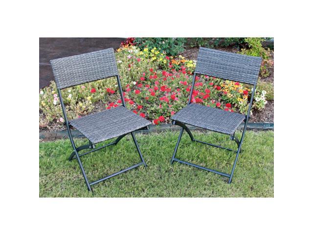 International Caravan Patio Furniture.International Caravan Castillo Resin Steel Folding Chairs Set Of 2 Newegg Com