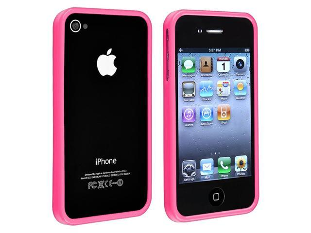 separation shoes e01ff cae15 Pink Shiny Bumper TPU Rubber Skin Case for Apple iPhone 4/ 4S - Newegg.com