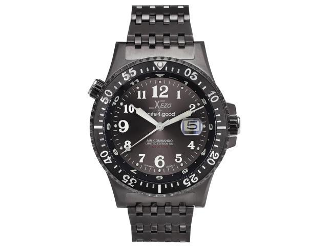 Xezo for unite4 good air commando men 39 s limited edition automatic divers and pilots watch for Xezo watches