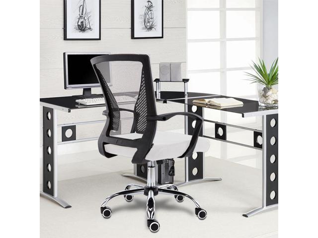 Modern Home Zuna Mid Back Office Chair Black White Newegg Com