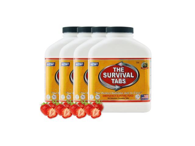 Survival Tabs 60-Day Food Supply - Strawberry - Gluten Free and Non-GMO