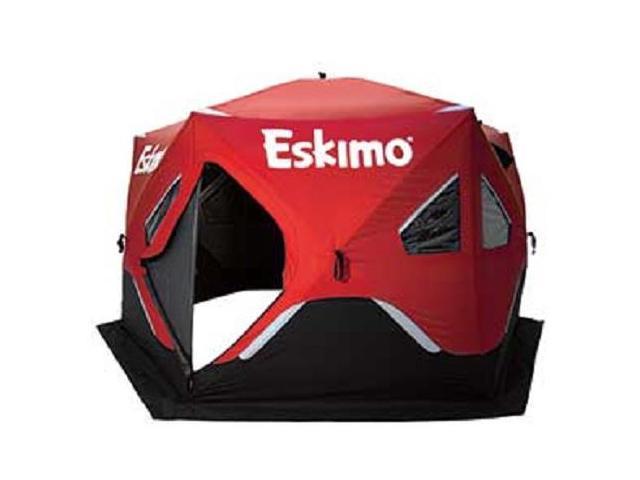 Eskimo Fatfish 6120i Insulated Six Sided 5-7 Person Pop Up Ice Fishing  Shelter - Newegg com