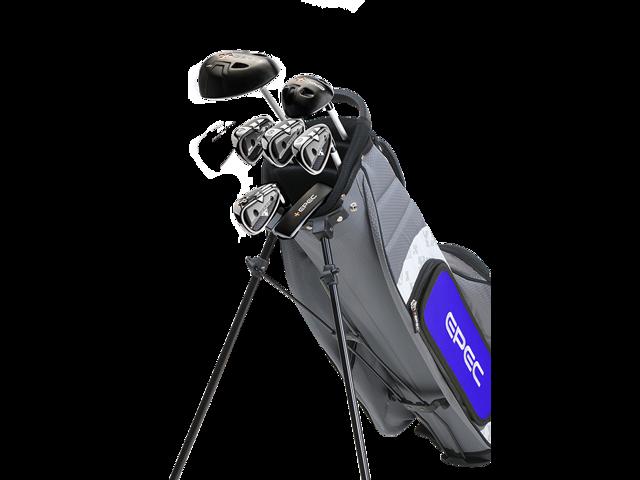 Epec Upgradeable Junior Golf Clubs 7pc Set With Grey Bag For 42 Kids Newegg Com