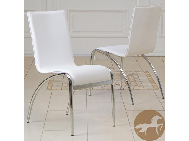 Christopher Knight Home Kensington White Modern Chairs