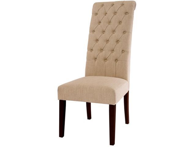 Christopher Knight Home Tall Natural Tufted Dining Chairs